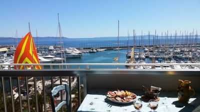 Photo for T3 Hyéres Port SEA VIEW SPLENDID Classified 4 *