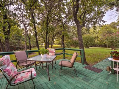 Charming Getaway Set on 10 Acres w/ Large Deck!