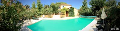 Photo for Superb provencal villa in the heart of the Côtes du Rhône vineyard -Private swimming pool