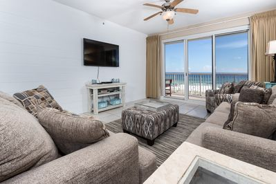 Outstanding views from all throughout unit 302!! - Balcony entry from the spacious living room and a brand new flat screen TV!