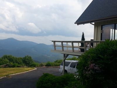 Photo for Million Dollar View / Amazing Cabin / Hot tub / Foosball / Wifi / Charming home
