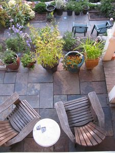 Patios from above.