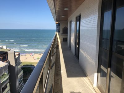 Photo for Apt NEW Itapema - Sea View - Pe in the sand - 8 people