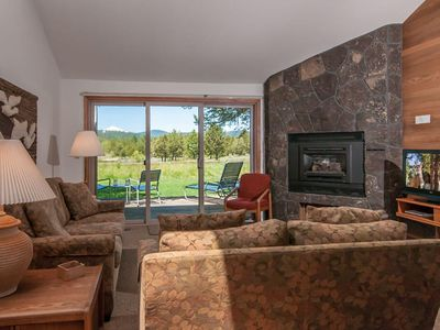 Photo for Pets welcome at this comfy friendly condo with lake and Mt. Bachelor views!