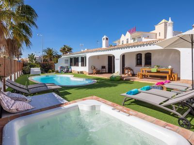Photo for Charming Villa, top location, pools, inner courtyard and panoramic terrace