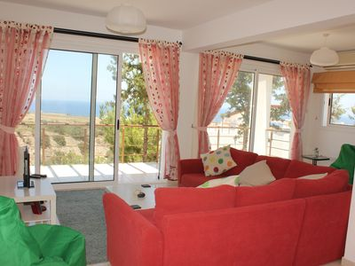 Photo for p/house with BBQ roof terrace/ sea views