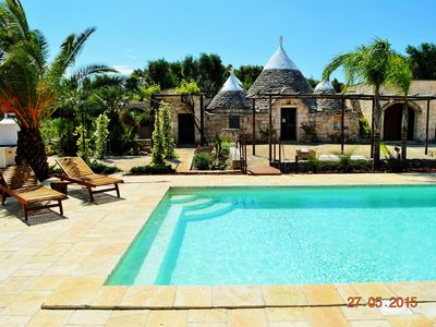 Photo for Historical building with pool - Trullo Bello