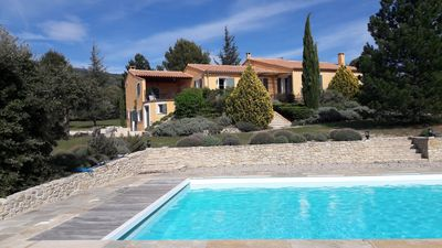 Photo for By Mont Ventoux, villa with very large pool, great views, 8000m2 park, very quiet!