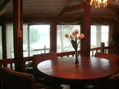 Dining area with a beautiful view