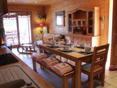 Photo for Apartment type chalet coccooning, 65m² with sauna and terrace for 8 people