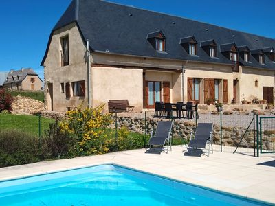 Photo for Luxury gite with large pool and stunning mountain views. Sleeps up to 7