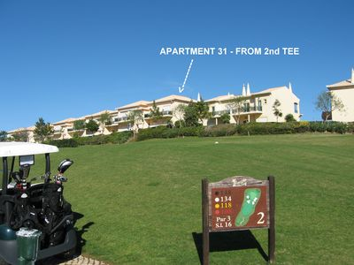 View of apartment from 2nd tee