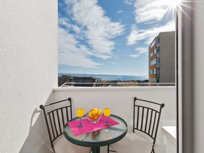 Photo for Sunny apartment with massage chair and a sea view