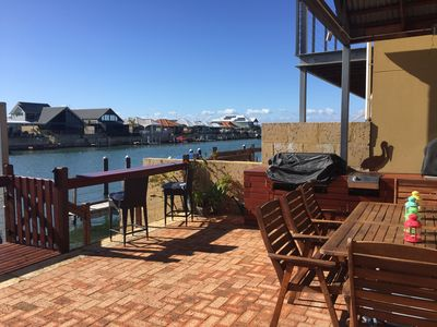 Photo for Waterfront CANAL Luxury.  Family friendly with free WI-FI. Own private Jetty !!