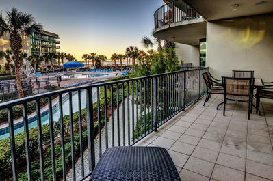 Prepare to relax - this is your view as you lounge on our balcony