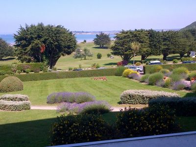 Photo for Duplex apartment of 90m2, sea view, 100m from the beach & 300m from golf course