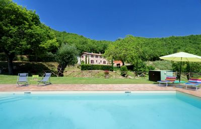 Photo for Elegant country house among olive trees with private pool