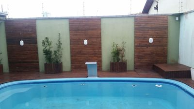 Photo for 4 bedroom house with pool in Meia Praia