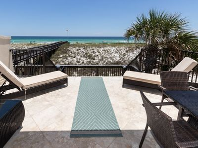 Photo for The Carlyle Townhouse - Gorgeous Townhome Sleeping 6! Gulf Front, Free Beach Equipment Rentals!