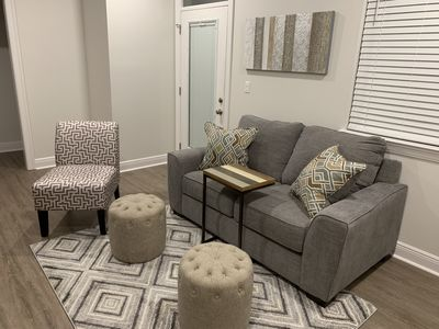 """74"""" loveseat, 2 ottomans, and chair"""