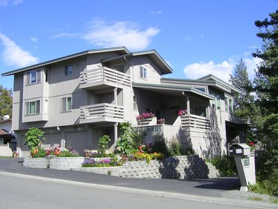 Photo for Home Away from Home - Garden Suite in quiet, modern Duplex above Campbell  Lake