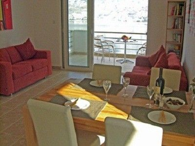 Living room with view of Kotor Bay.