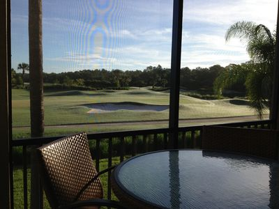 Photo for Spectacular view on the putting green! Luxury furniture! 2 BR+Den 2nd Floor