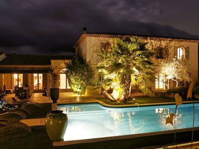Photo for Luxury bastide with pool and gardens, walking distance to restaurants and shops