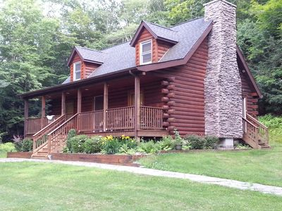 Photo for Log Home Private Wooded Setting Close To All Shopping, Ski And Casinos
