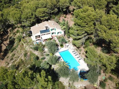 Photo for Villa Lentis Beautiful Villa with Large Heated Pool on the Hills of Nice