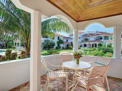 Photo for Ocean view condo, pool, bbq, close to town