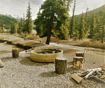 Creekside fire pit out your front door. Look at that view!