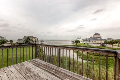 Admire sensational views from the private deck.