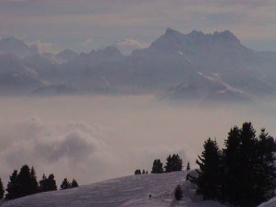 Les Dents du Midi, view from living and terrace