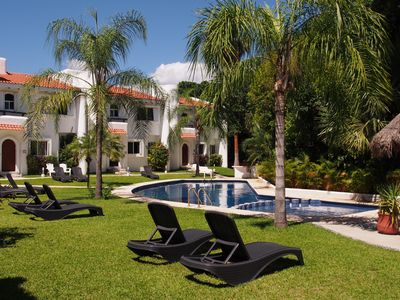 Photo for REDUCTION! July&Aug. Fantastic villa/condo. Walking distance to  Beach&Center