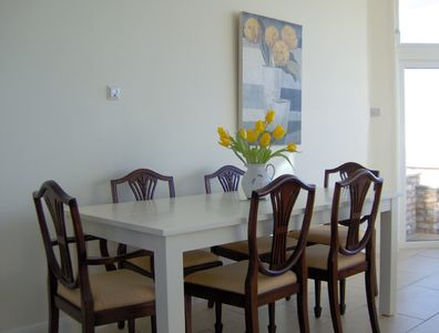 Dining area with access to patio