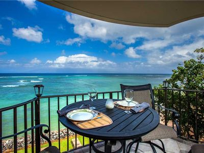 Photo for Expansive ocean views and views of the neighboring island of Molokai from the Kahana Reef #321