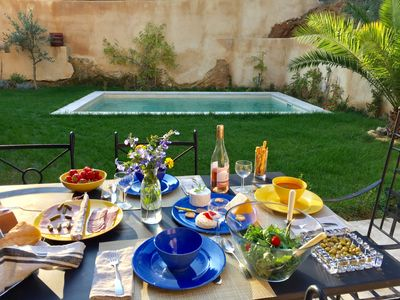 Photo for XIXe PROVENÇAL STONE HOUSE WITH PRIVATE POOL/GARDENS, 10 MINUTES FROM UZES