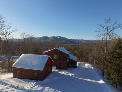 Photo for Luxury Lodge with Hot Tub, Fireplace, Mountain and Sunday River Ski Resort Views