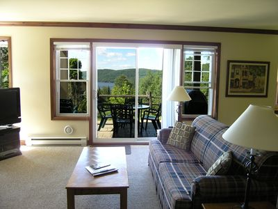 Photo for Mont Tremblant, High End 2 Bedroom Mountain Side Condo, Up Scale Resort