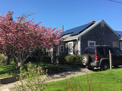Photo for In-Town Vineyard Haven House with Central AC, Walking Distance to Boat