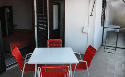 Photo for Studio flat with terrace and sea view Trogir