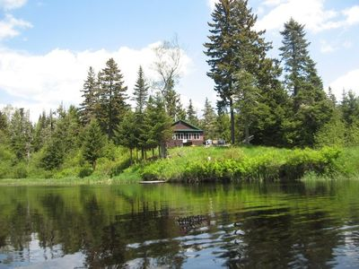 View of the Cabin from the canoe!