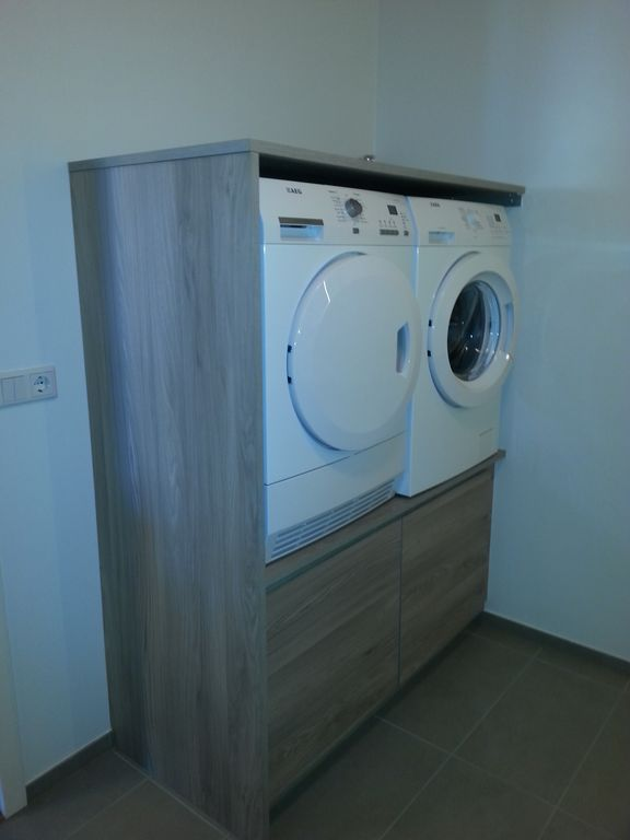 Washing Machine And A Dryer In The Bathroom In Apartment 701 And 706