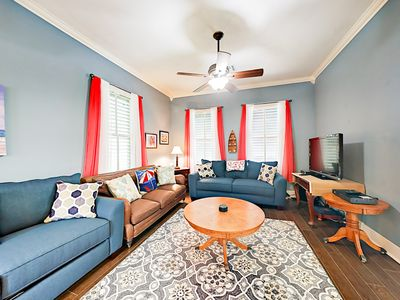 Photo for Historic 2BR East End District Home w/ Private Backyard - Short Walk to Beach