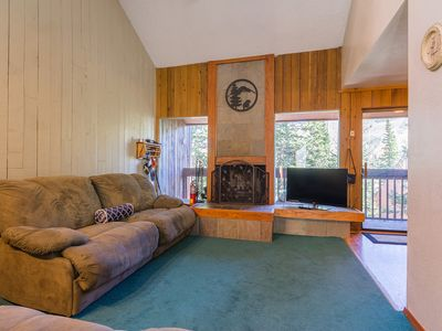 Photo for Condo Aspens 12B, WiFi, Wood Fireplace, Private Deck, Across from Ski lift