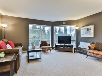 Photo for Pleasingly Furnished Ski In Condo up at ski hill