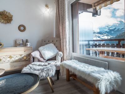 Photo for Studio renovated with magnificent view Aravis