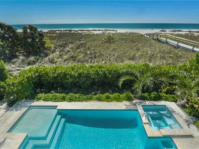 Photo for Gulf Front, Private Pool, August Savings! Gulf Front Paradise: 4 BR /4.5 BA