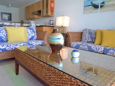 Photo for SEA GLASS POOLSIDE - Spacious 2 bed duplex in the heart of St Lawrence G